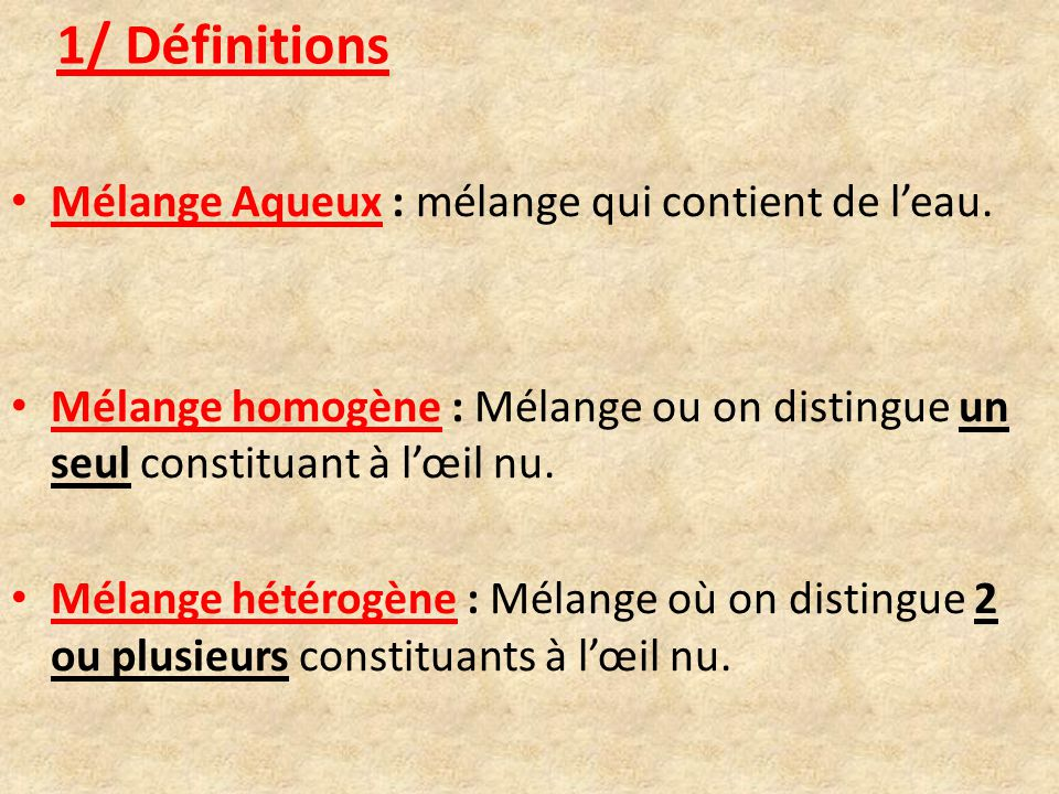 Chapitre 2 les m langes aqueux homog nes et h t rog nes for Definition de l