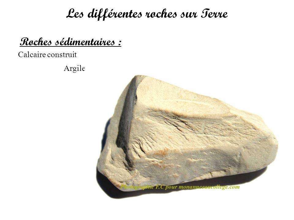 Les différentes roches sur Terre