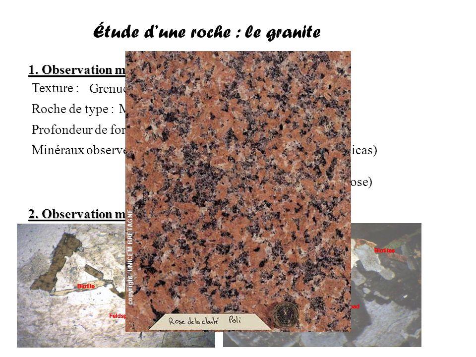Étude d'une roche : le granite