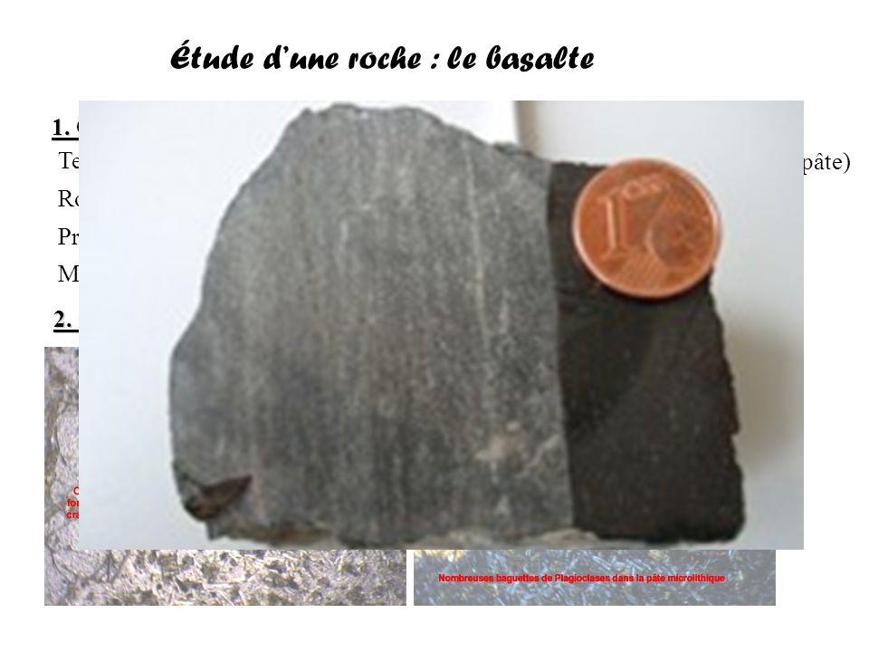 Étude d'une roche : le basalte