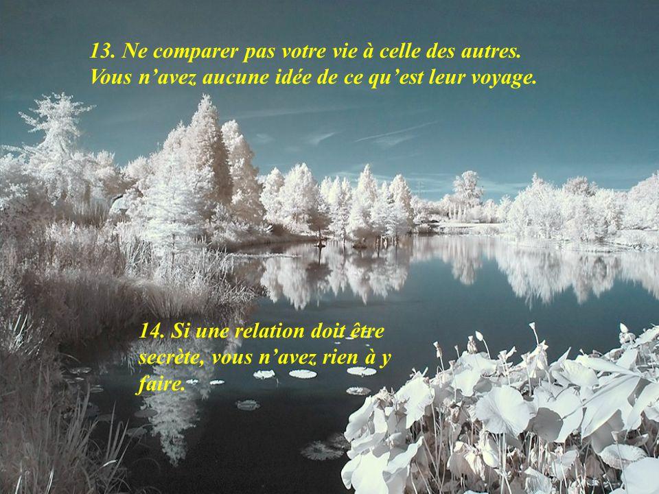13. Ne comparer pas votre vie à celle des autres