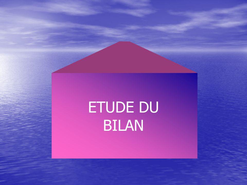 ETUDE DU BILAN