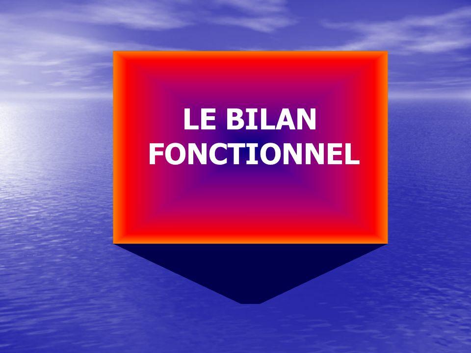 LE BILAN FONCTIONNEL