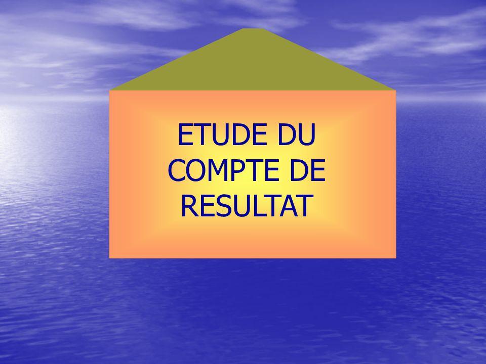 ETUDE DU COMPTE DE RESULTAT