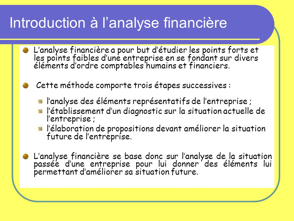 Introduction à l'analyse financière