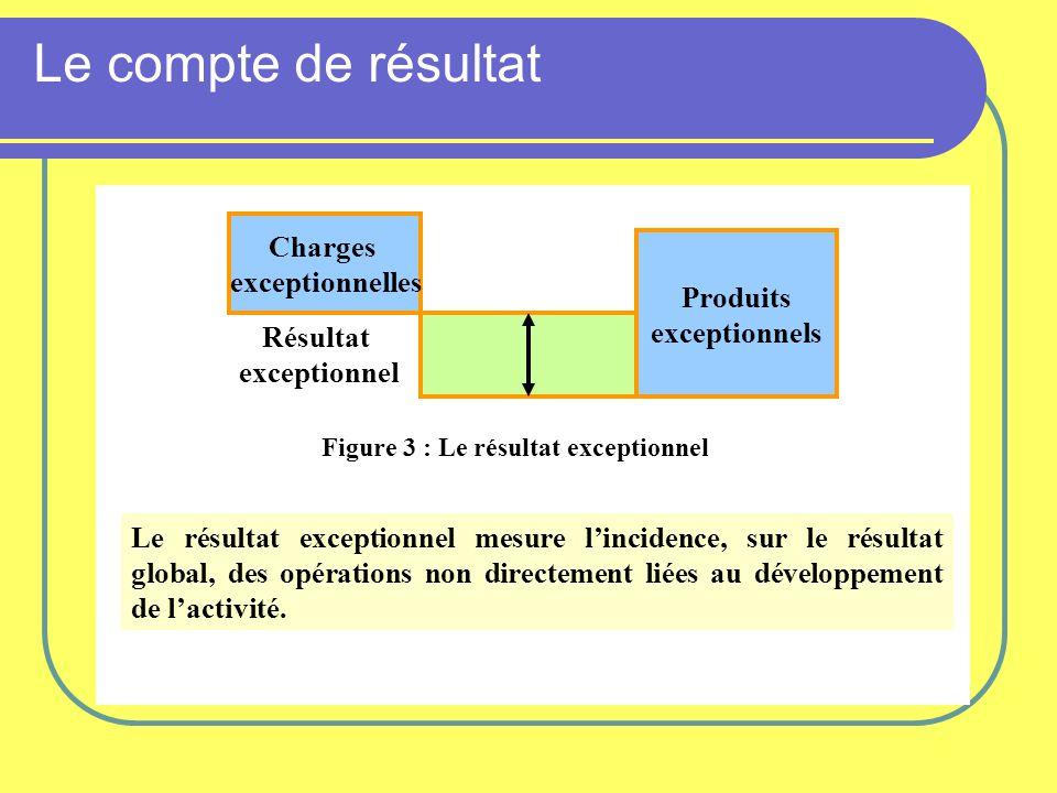 Figure 3 : Le résultat exceptionnel