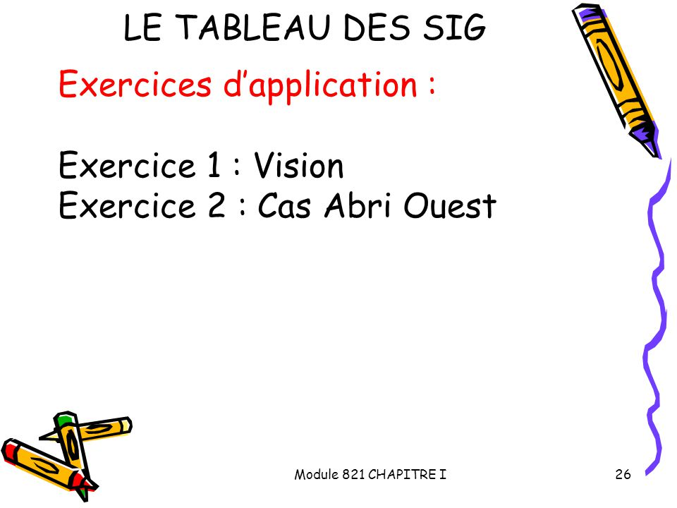 Exercices d'application : Exercice 1 : Vision