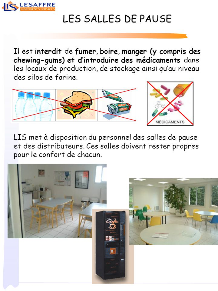 Informations g n rales ppt video online t l charger for Obligation salle de repos au travail
