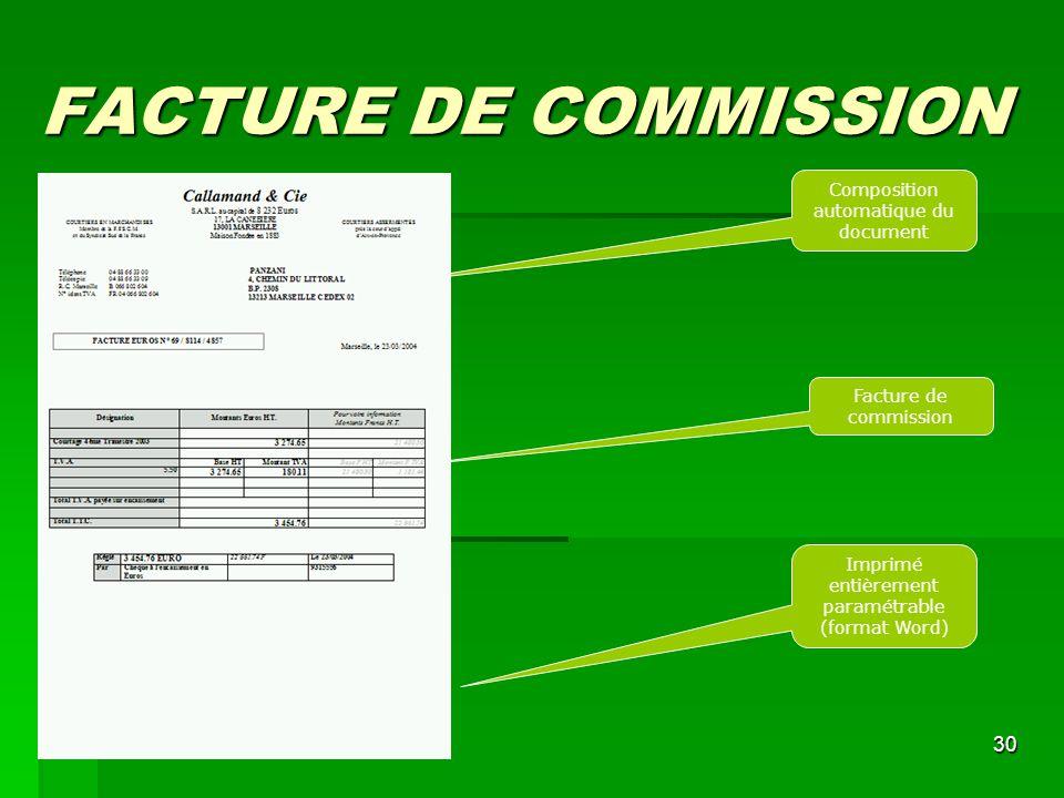 modele facture commission sur vente