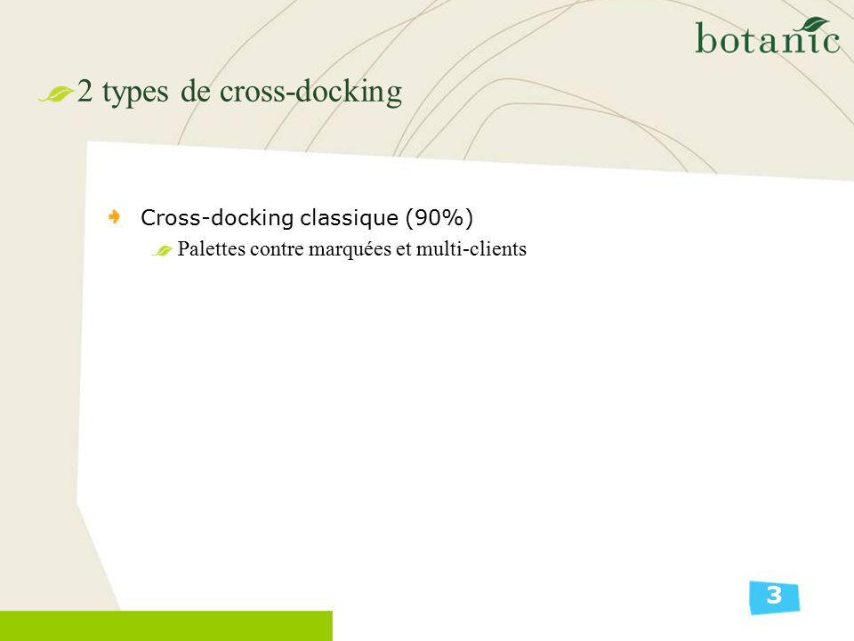 2 types de cross-docking