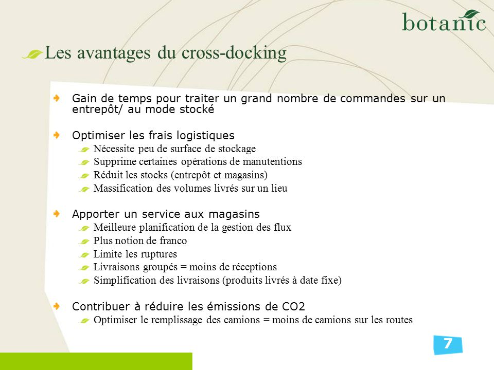 Les avantages du cross-docking