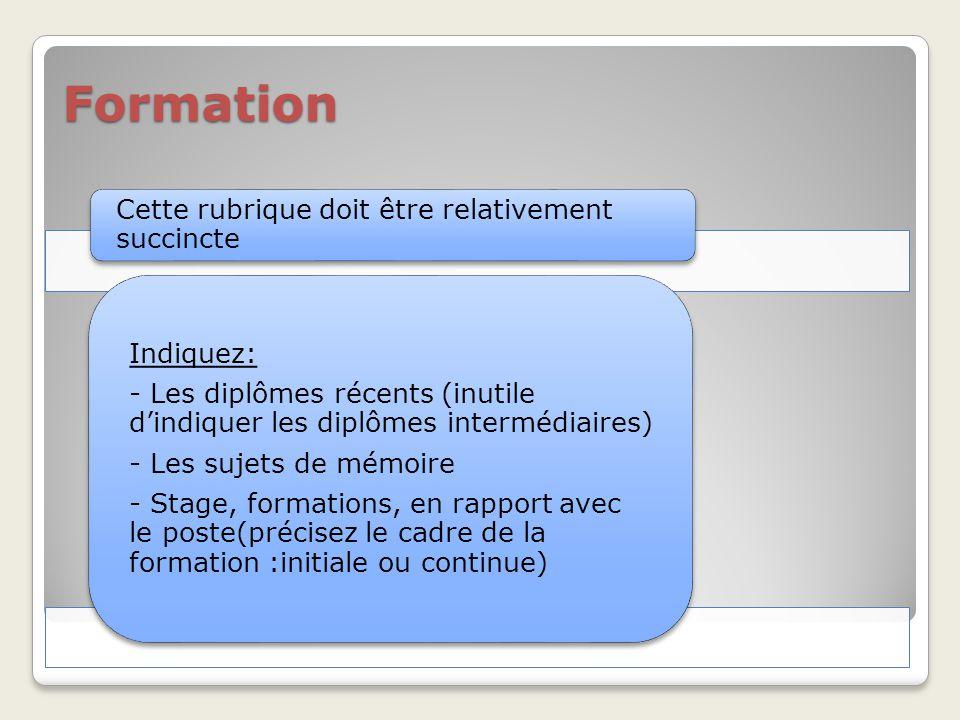 conception d u2019un curriculum vitae