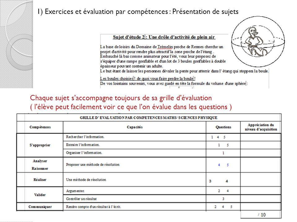 Exemple d valuation pour la formation par comp tences fichier de mr peyridieu 1 exercices et - Grille d evaluation formation ...