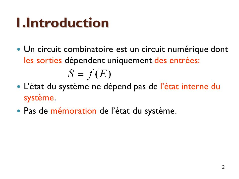 Chapitre 5 les circuits s quentiels ppt video online for Les circuit combinatoire