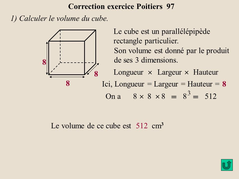 Correction exercice poitiers ppt t l charger for Calculer son volume de demenagement