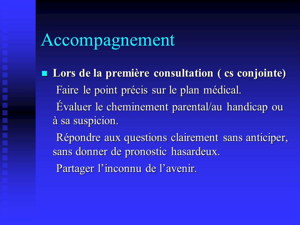 Accompagnement Lors de la première consultation ( cs conjointe)