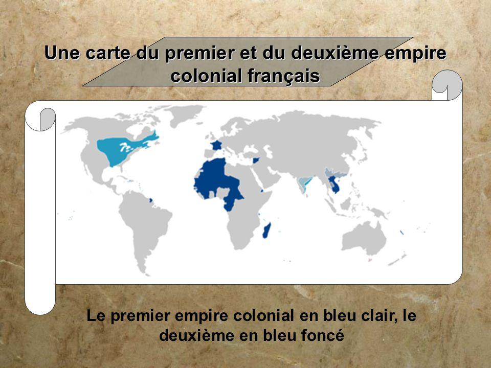 Une carte du premier et du deuxième empire colonial français