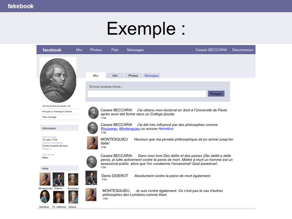 fakebook Exemple :