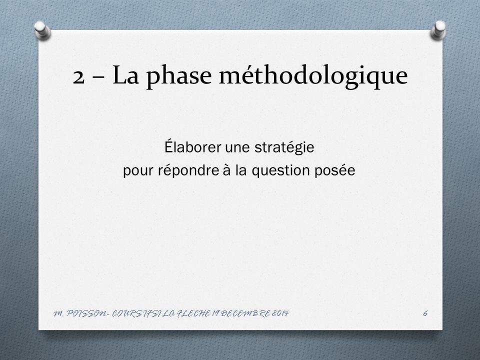 2 – La phase méthodologique