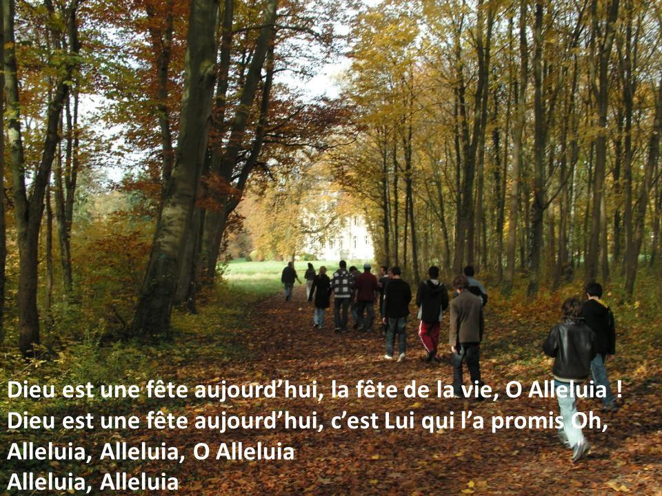 Dieu est une fête aujourd'hui, la fête de la vie, O Alleluia !