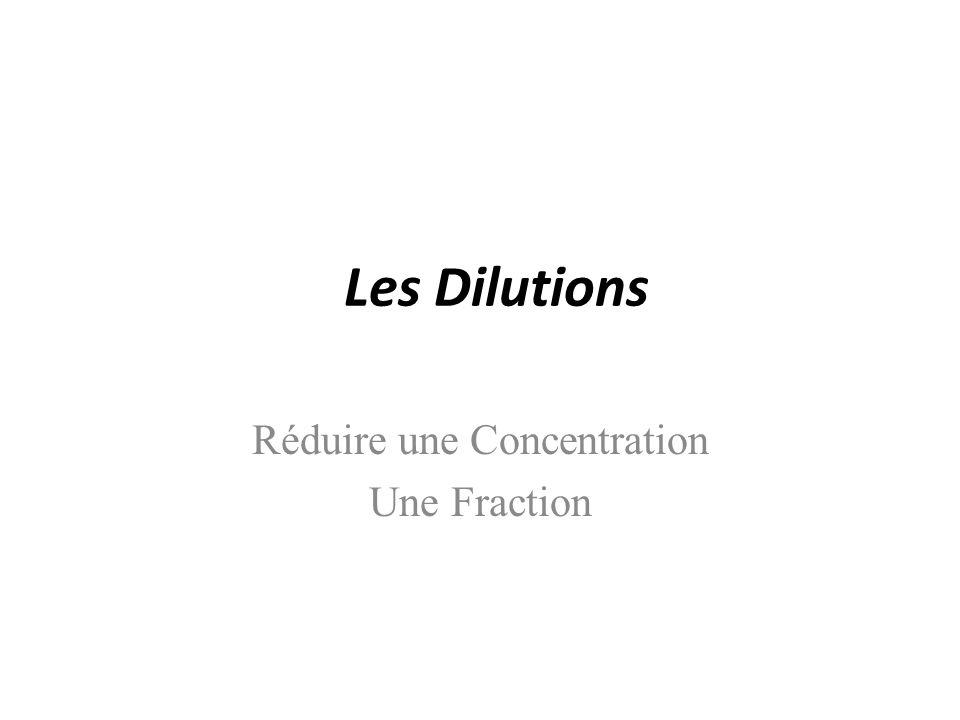 Réduire une Concentration Une Fraction