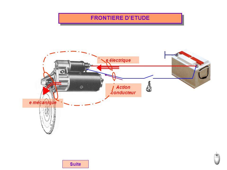 FRONTIERE D'ETUDE e électrique Action conducteur e mécanique Suite