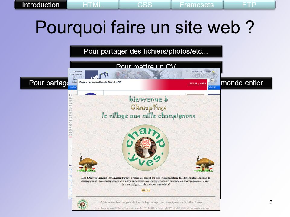 s u00e9minaire informel cr u00e9ation de pages web