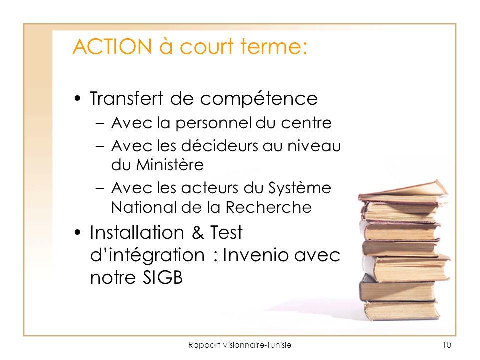 Rapport Visionnaire-Tunisie