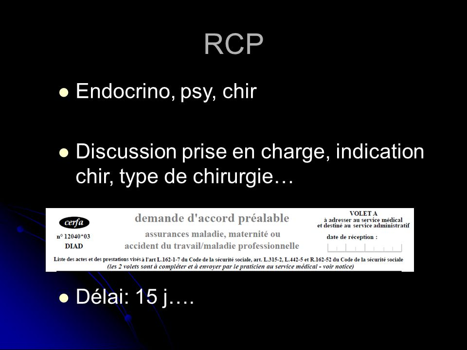 RCP Endocrino, psy, chir.