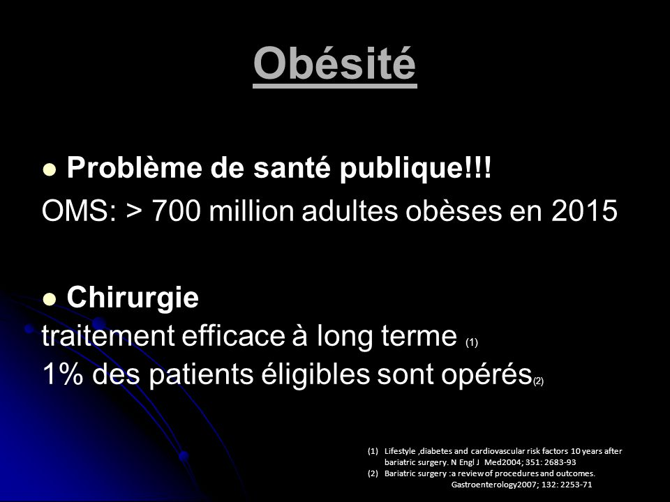Obésité Problème de santé publique!!!