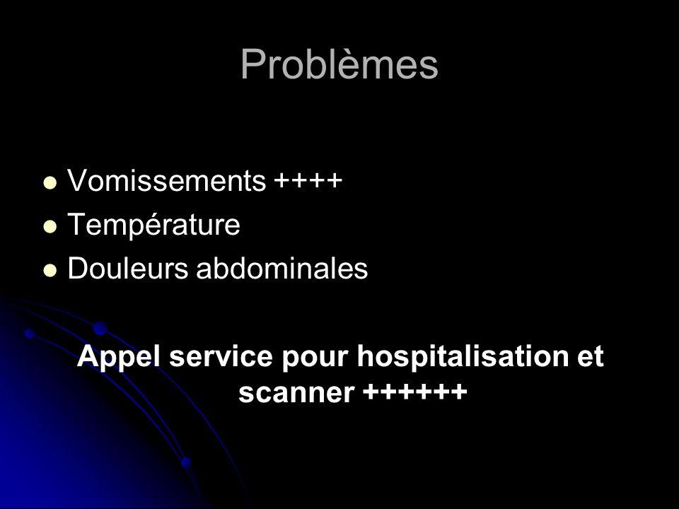 Appel service pour hospitalisation et scanner ++++++
