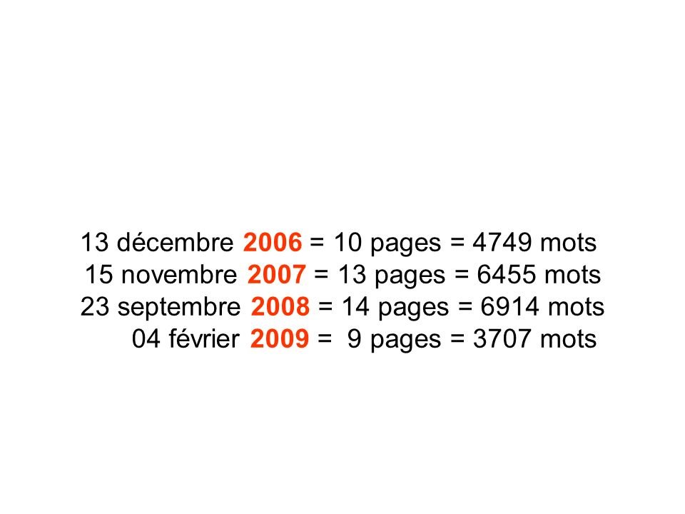 23 septembre 2008 = 14 pages = 6914 mots