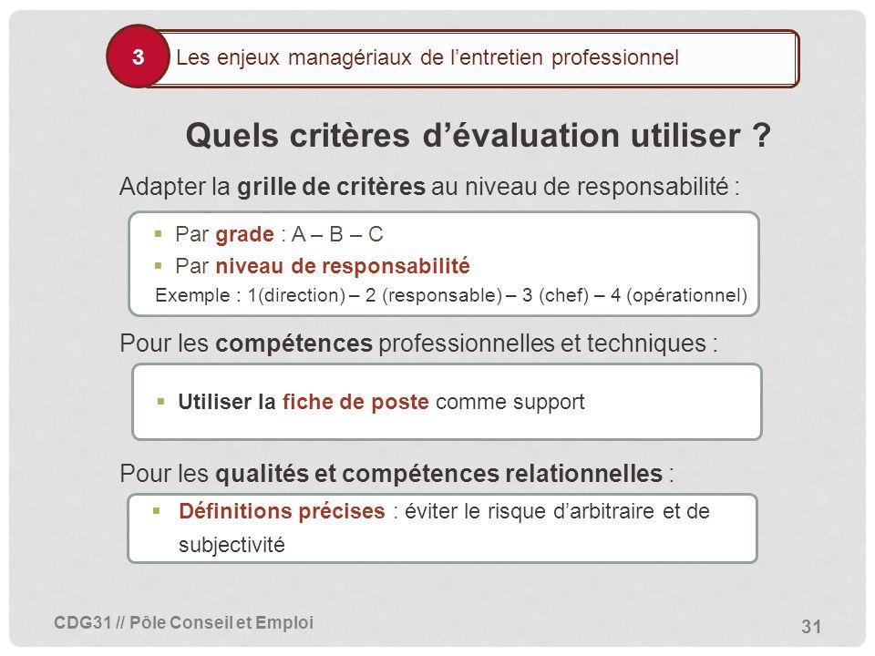 Mise en uvre de l entretien professionnel ppt t l charger - Grille des competences professionnelles ...