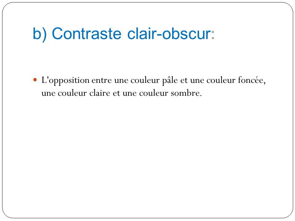 b) Contraste clair-obscur: