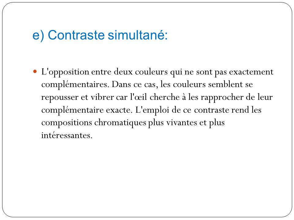 e) Contraste simultané: