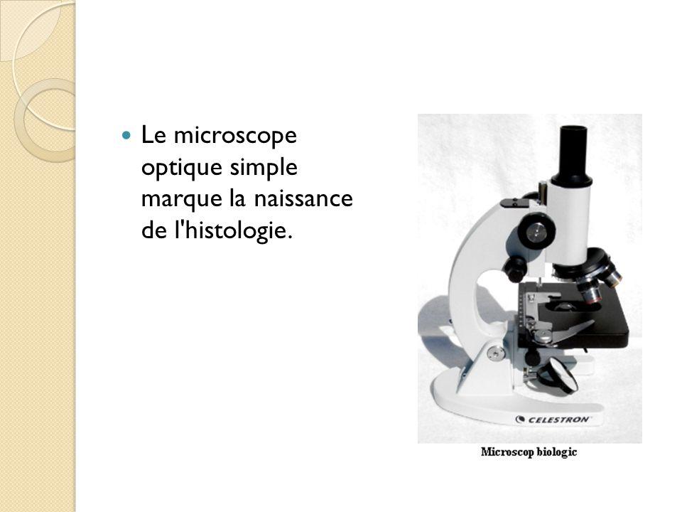 Le microscope optique simple marque la naissance de l histologie.