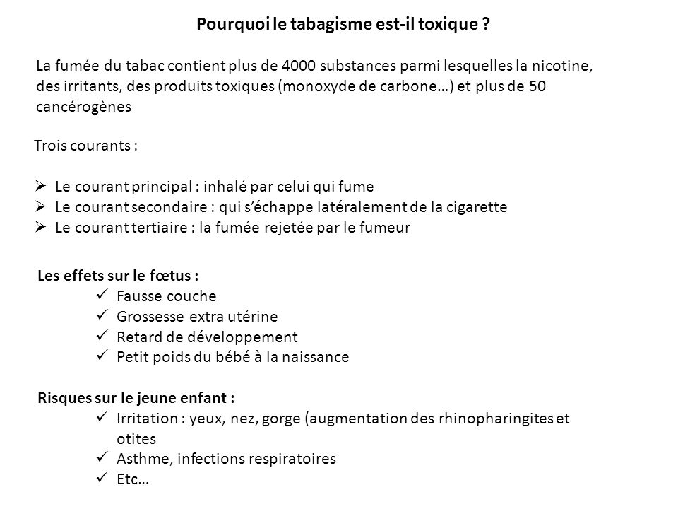 Programme i l environnement du tabac ppt video online - Fausse couche grossesse extra uterine ...