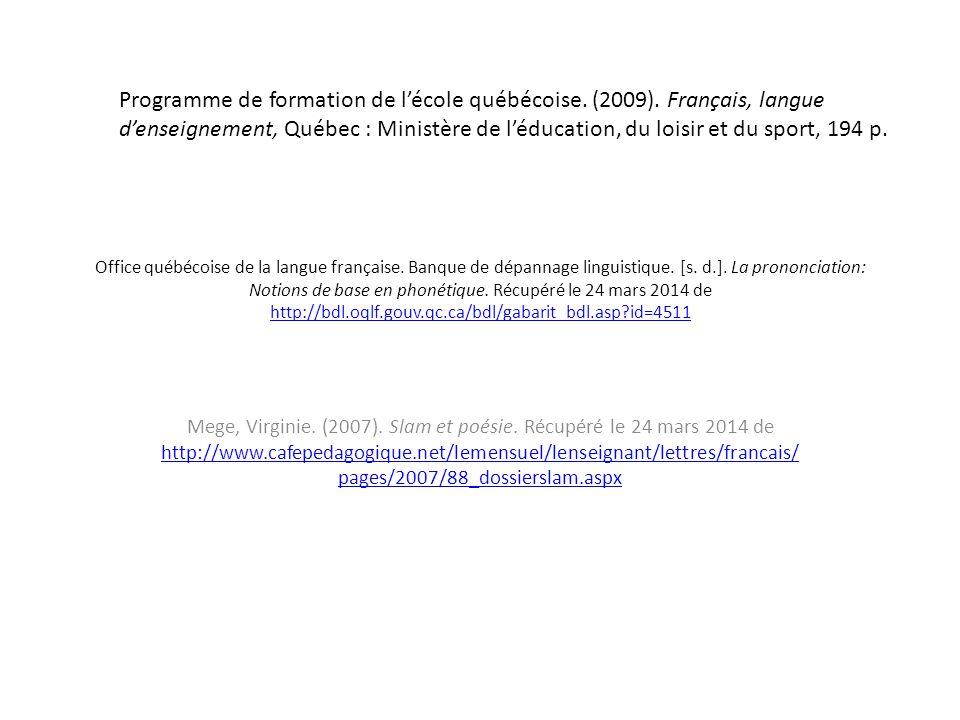 Caract ristiques du slam ppt video online t l charger - Office quebecois de la langue francaise ...