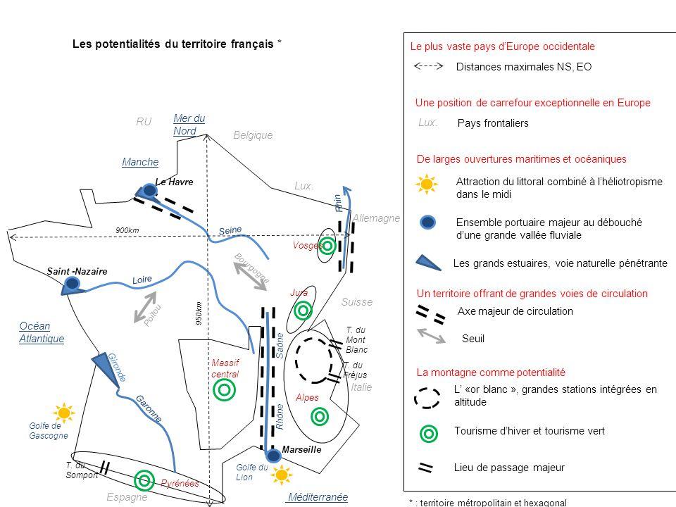 Les potentialités du territoire français *