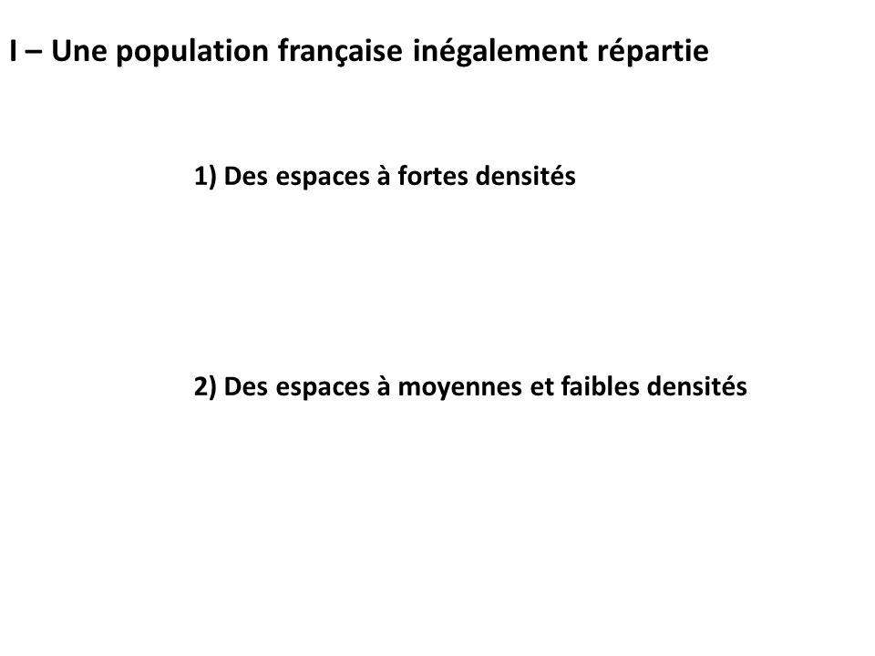I – Une population française inégalement répartie