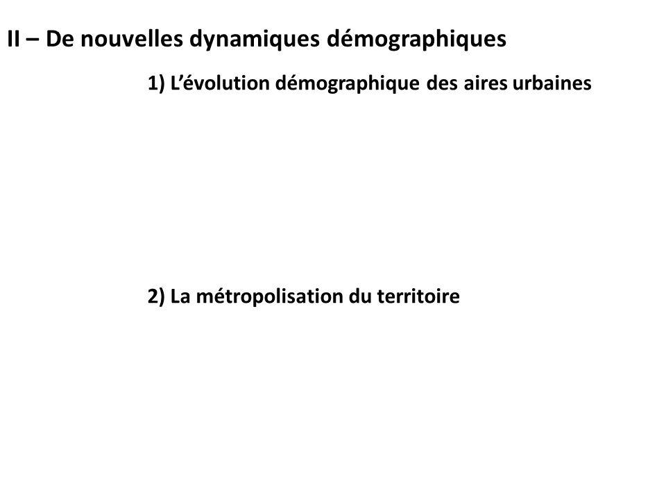 II – De nouvelles dynamiques démographiques