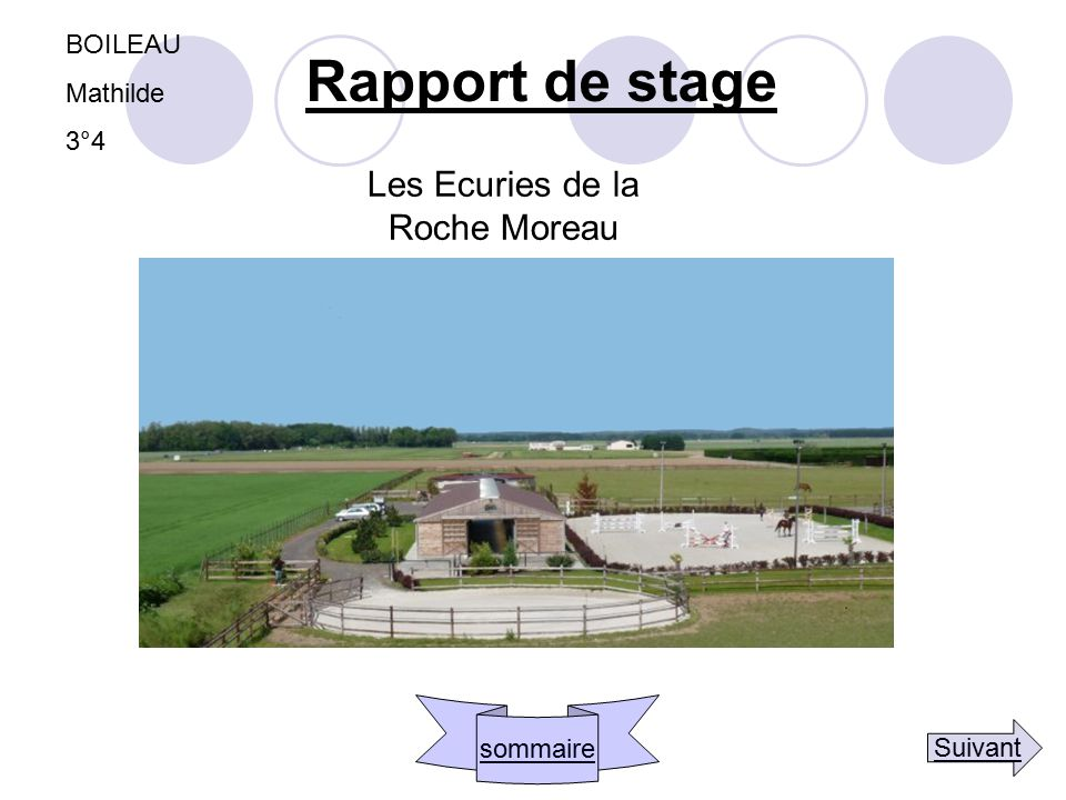 Les Ecuries de la Roche Moreau