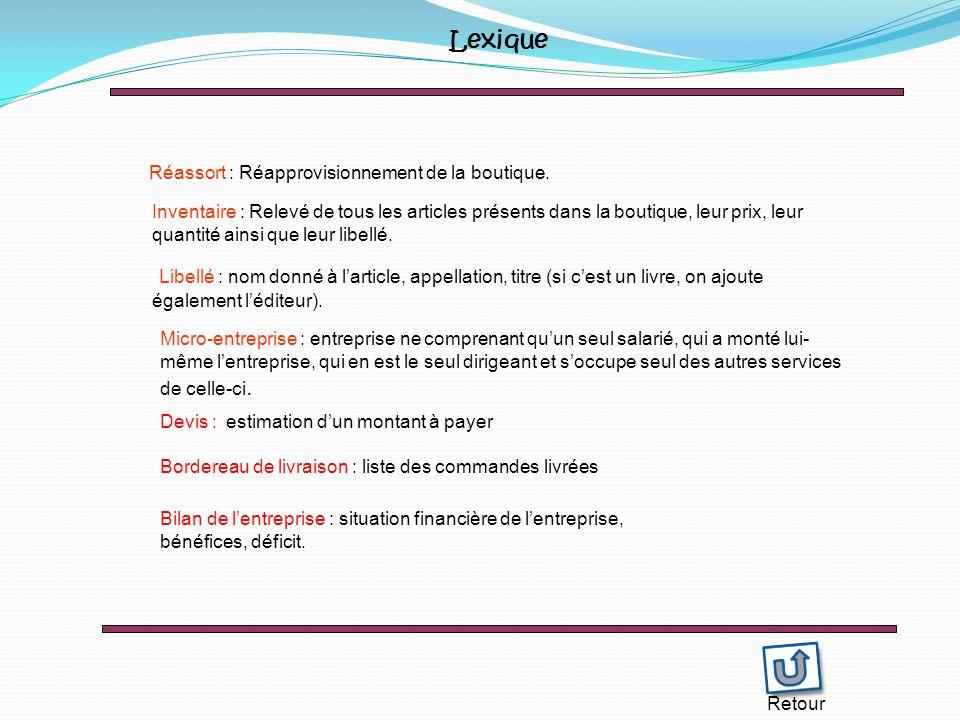 Lexique Réassort : Réapprovisionnement de la boutique.