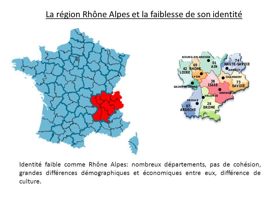 La région Rhône Alpes et la faiblesse de son identité