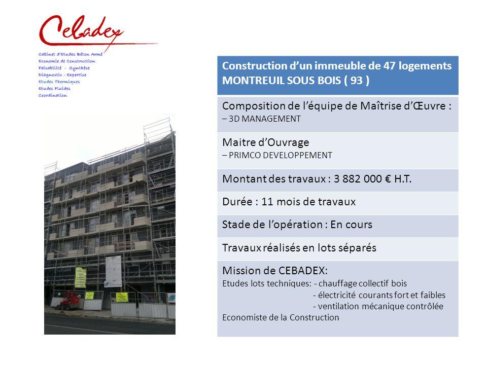 Construction d un immeuble de 15 logements alfortville 94 ppt video online t l charger for Construction bois 93