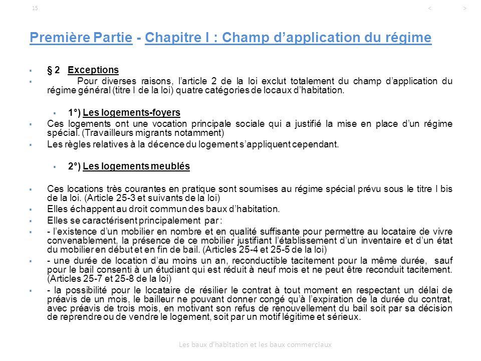 Licence professionnelle droit de l 39 immobilier ppt t l charger - Renouvellement bail meuble ...