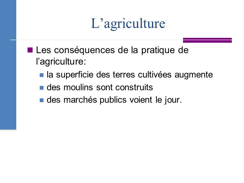 L'agriculture Les conséquences de la pratique de l'agriculture:
