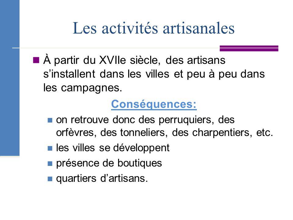 Les activités artisanales