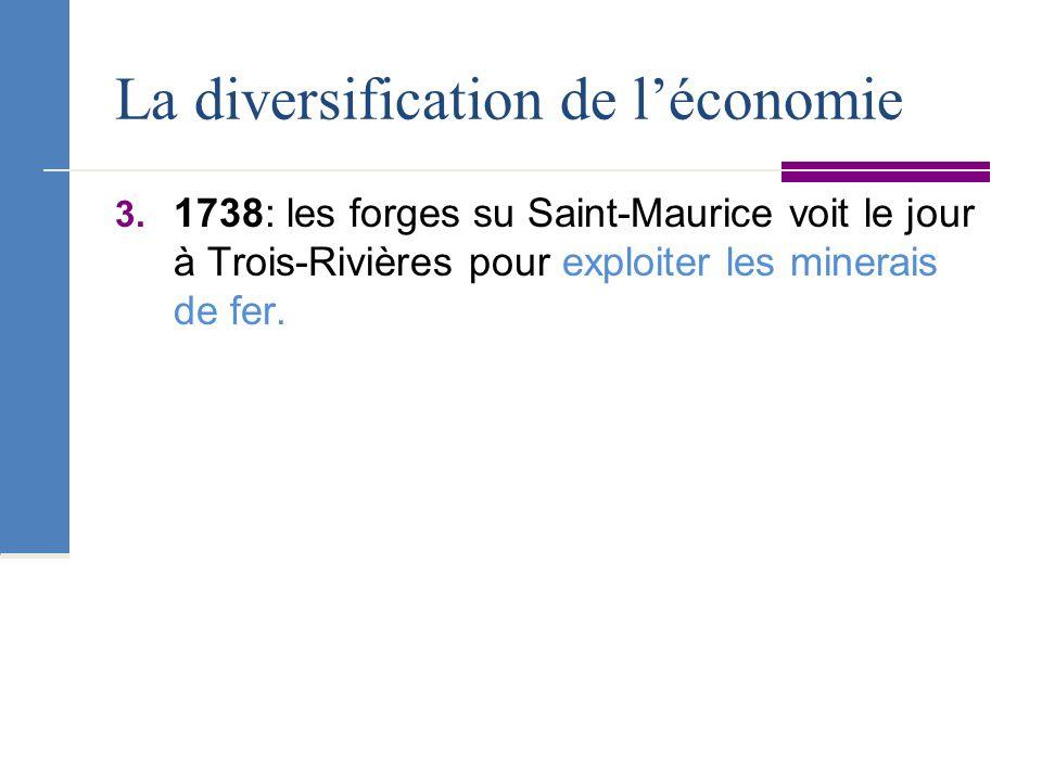 La diversification de l'économie