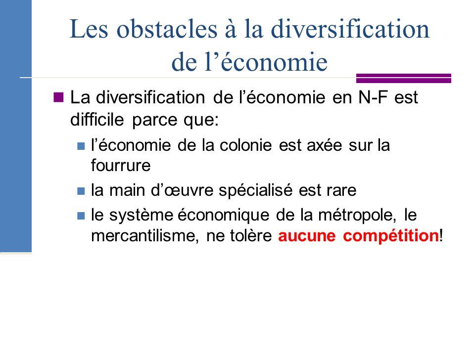 Les obstacles à la diversification de l'économie